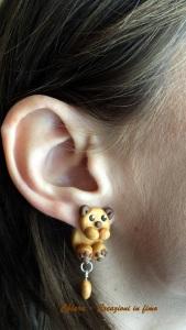 orecchini in fimo cani